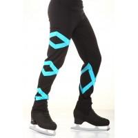 花样滑冰长裤,黑色,蓝色
