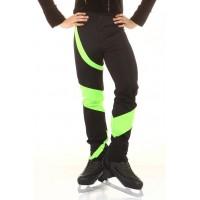 花样滑冰长裤,黑色,绿色