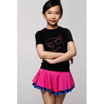 Figure skating skirt - pink - blue - short - Blue