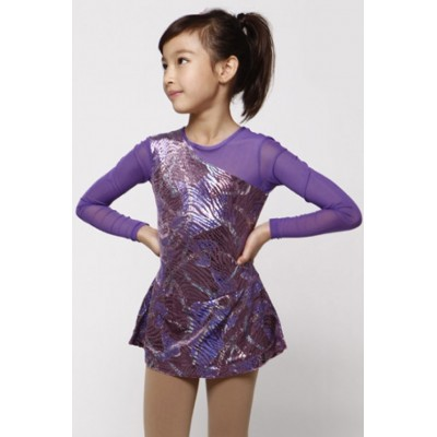 Figure skating dress 23 - Purple