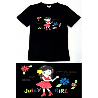 Girl Tee - black - graphic print