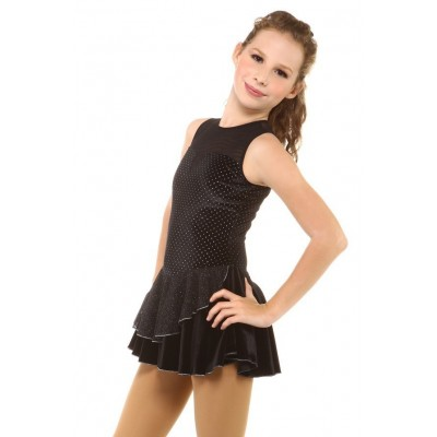 Figure skating dress - black - sleeveless 2