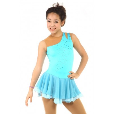 Classic Bianca Figure Skating Dress - Light Blue