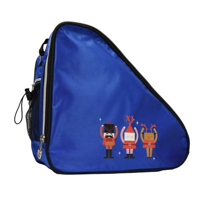 Limited edition festive print ventilated small skate bag - Cobalt Blue