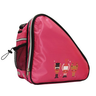 Limited edition festive print ventilated small skate bag - Hot Pink