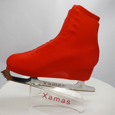 Lycra boot cover - figure skating - autumn series - Dark red