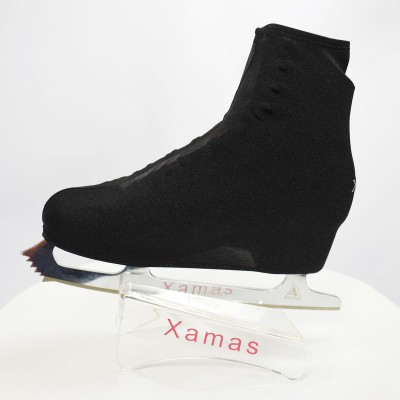 Lycra boot cover - figure skating - deep sea series - Black