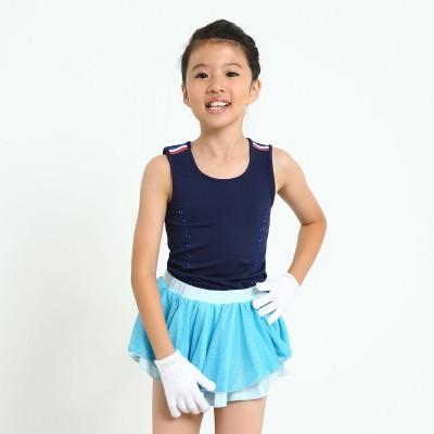 Sparkling figure skating practice skirt