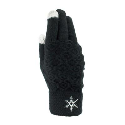 大众最爱 成人雪花菠萝纹理触屏针织手套
