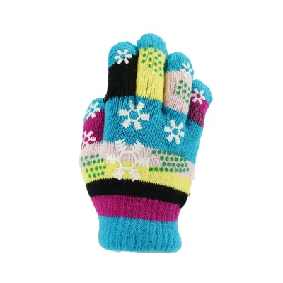 Classic Kids Silicone Snowflakes Knitted Gloves for Small Hands
