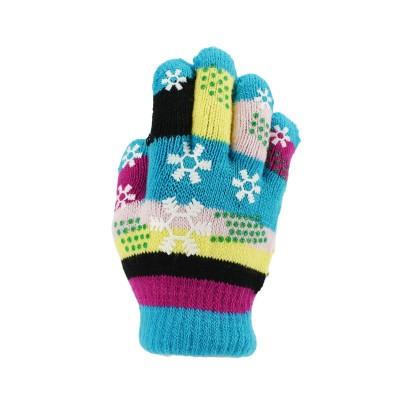 儿童针织手套 - 雪花 小手款