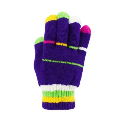 儿童针织手套- 紫底