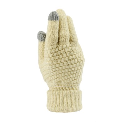 Classic Adults Pineapple Textured Touch Screen Knitted Gloves