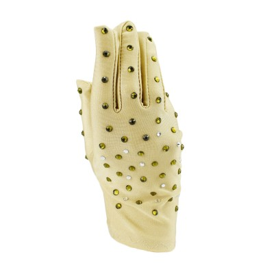 Adults 4-way stretch rhinestones performance gloves