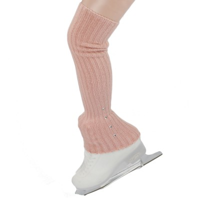 Crystals over the heel knitted leg warmers