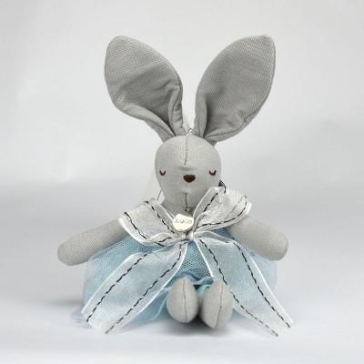 平静兔娃娃吊饰 - 灰色