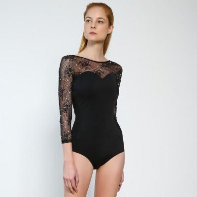 Premium Pro XAMAS Parisian Bodysuit - Black