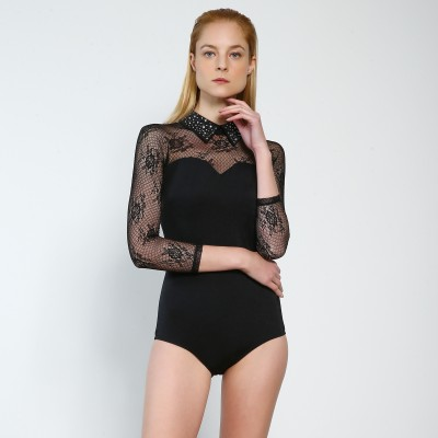 Premium Pro XAMAS Roma Dance Bodysuit - Black