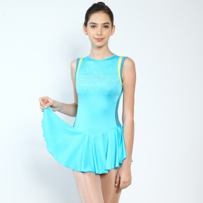 Classic Celine Figure Skating Dress - Light Blue