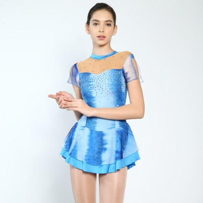 Trendy Pro Tracy Figure Skating Dress - Blue