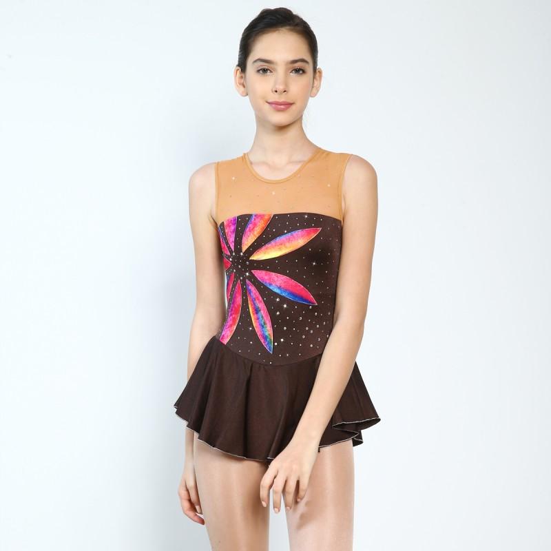 大众最爱 Rainbow Flower 花样滑冰表演服比赛裙
