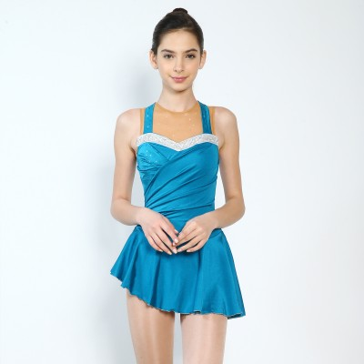 Trendy Pro Bridget Figure Skating Dress - Blue