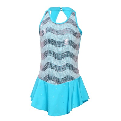 Classic Ocean Figure Skating Dress - Light Blue