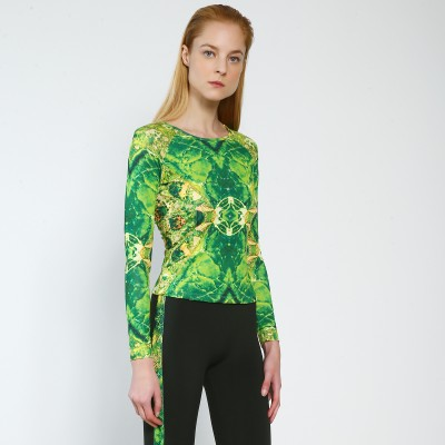 Trendy Pro XAMAS Green Agate Skating Top