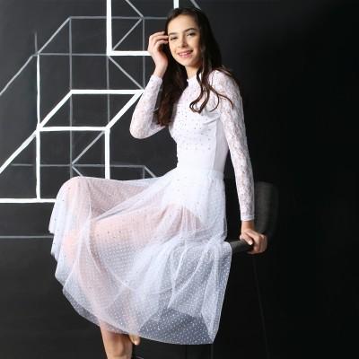 高端展现 XAMAS Stardust 芭蕾舞短裙 - 白色