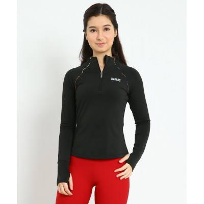 Trendy Pro XAMAS Deep Sea Agate Half Zip Pullover - Black