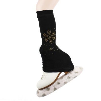 Trendy Pro XAMAS Snowflakes Micro Fleece Leg Warmers - Black