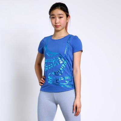 大众最爱 XAMAS 金属冰鞋T恤 - 蓝色