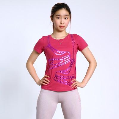 Classic XAMAS Metallic Skate T-Shirt - Fuchsia
