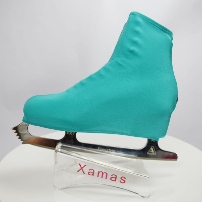 Lycra boot cover - figure skating - nature series - Turquoise