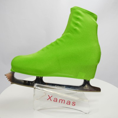 Lycra boot cover - figure skating - nature series - Green