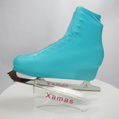 Lycra boot cover - figure skating winter series - Blue