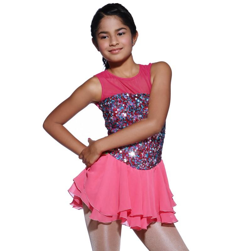 青春时尚 Shooting Star 花样滑冰表演服比赛裙