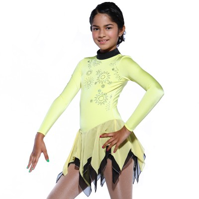 Classic Yoko Figure Skating Dress - Yellow