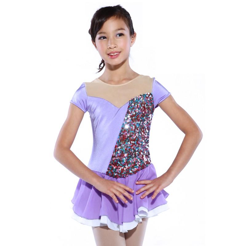 大众最爱 Rapunzel Sweet Heart 花样滑冰表演服比赛裙
