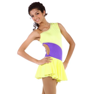 Classic Donna Figure Skating Dress - Yellow