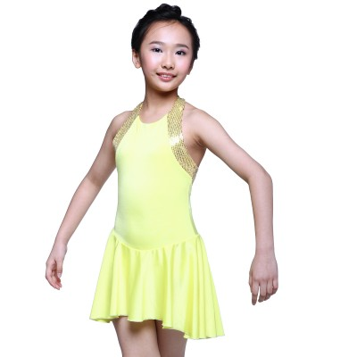 Classic Martine Figure Skating Dress - Yellow