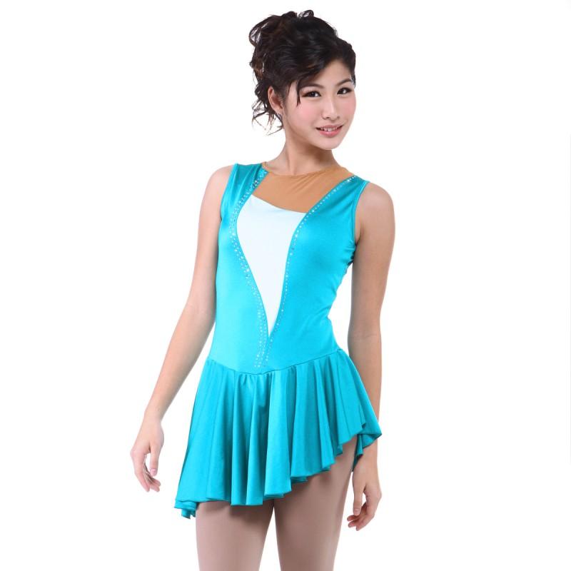 青春时尚 Eunice 花样滑冰表演服比赛裙