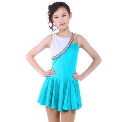 青春时尚 Mirabelle 花样滑冰表演服比赛裙 - 湖水绿