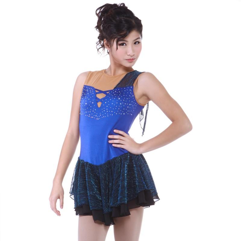 青春时尚 Louvinia 花样滑冰表演服比赛裙