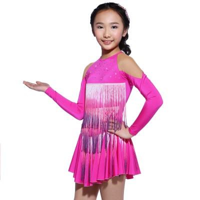 青春时尚 Yumiko 花样滑冰表演服比赛裙 - 紫红