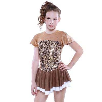 青春时尚 Goldgi 花样滑冰表演服比赛裙