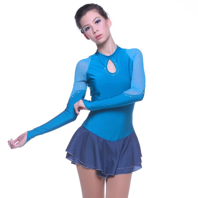 青春时尚 Mermaid Tears 花样滑冰表演服比赛裙