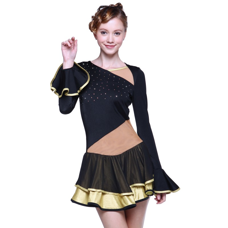 青春时尚 Sharon 花样滑冰表演服比赛裙