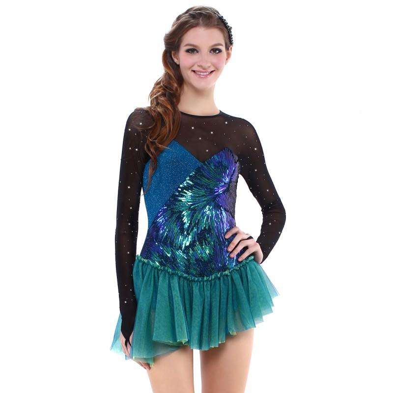 青春时尚 Ophelia Crystals 花样滑冰表演服比赛裙