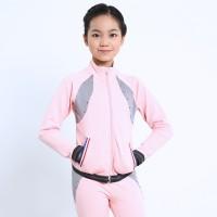 青春时尚 XAMAS 粉色公主全拉链烫钻外套